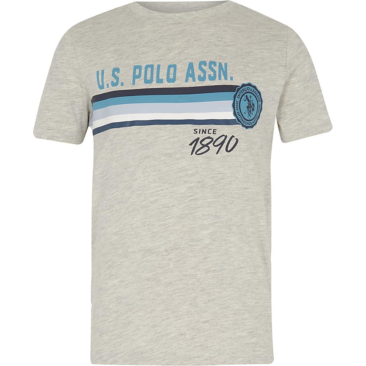Boys grey U.S. Polo Assn. print T-shirt