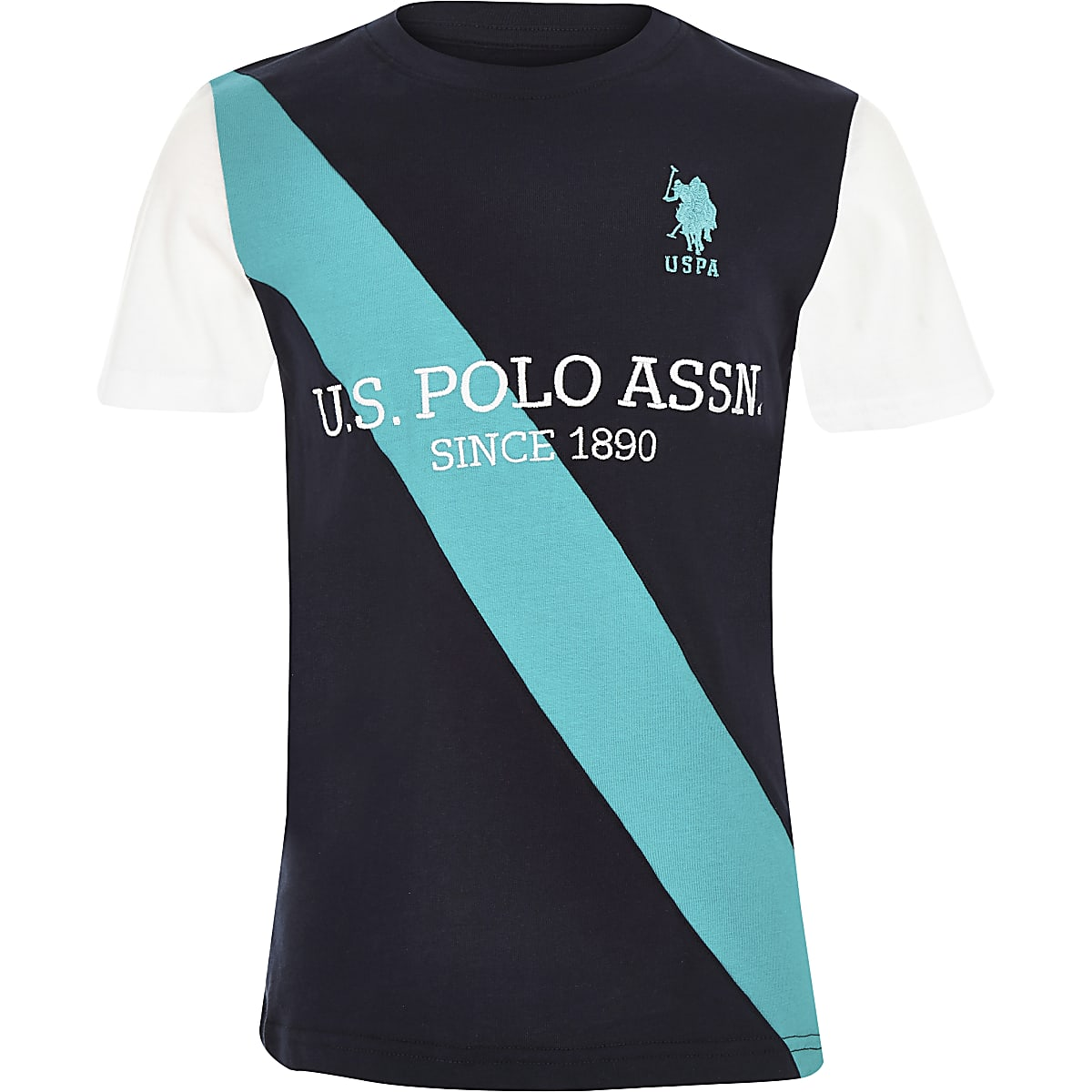 4cb1f106b Boys navy U.S. Polo Assn. stripe T-shirt - T-shirts - T-Shirts   Vests -  boys
