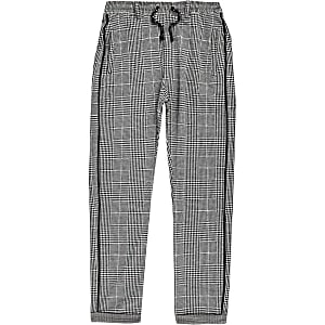 Boys grey check pants