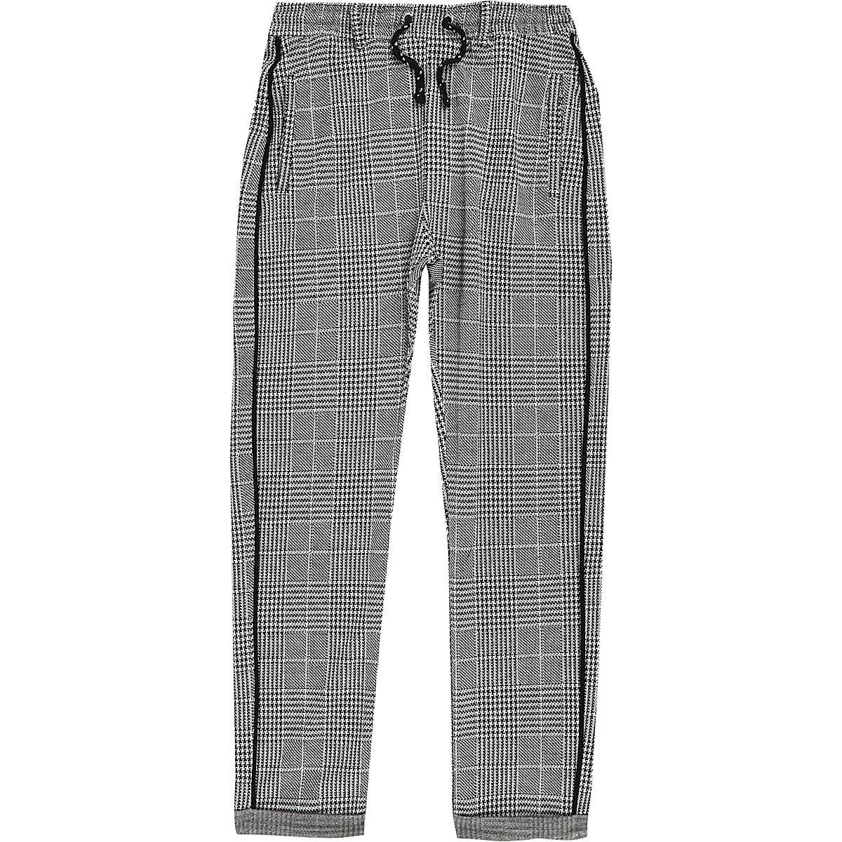 Pantalon à carreaux gris pour garçon