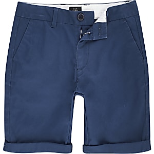 Dylan – Blaue Chino-Shorts