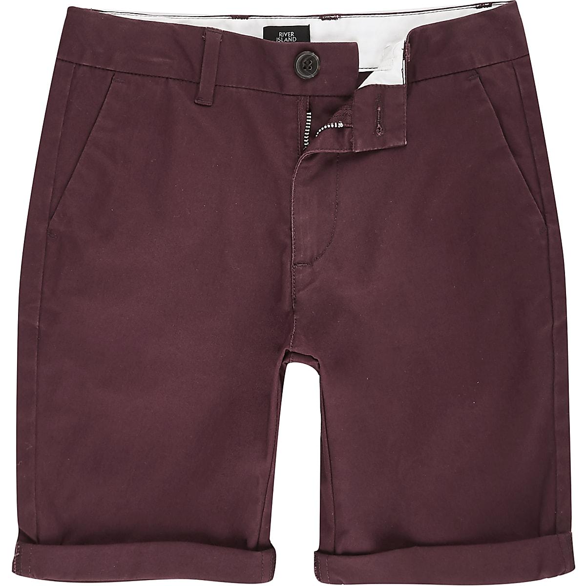 Dylan – Rote Chino-Shorts
