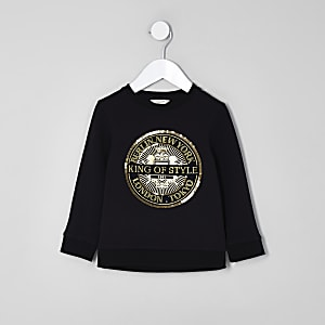 """Schwarzes Sweatshirt """"King of Style"""""""