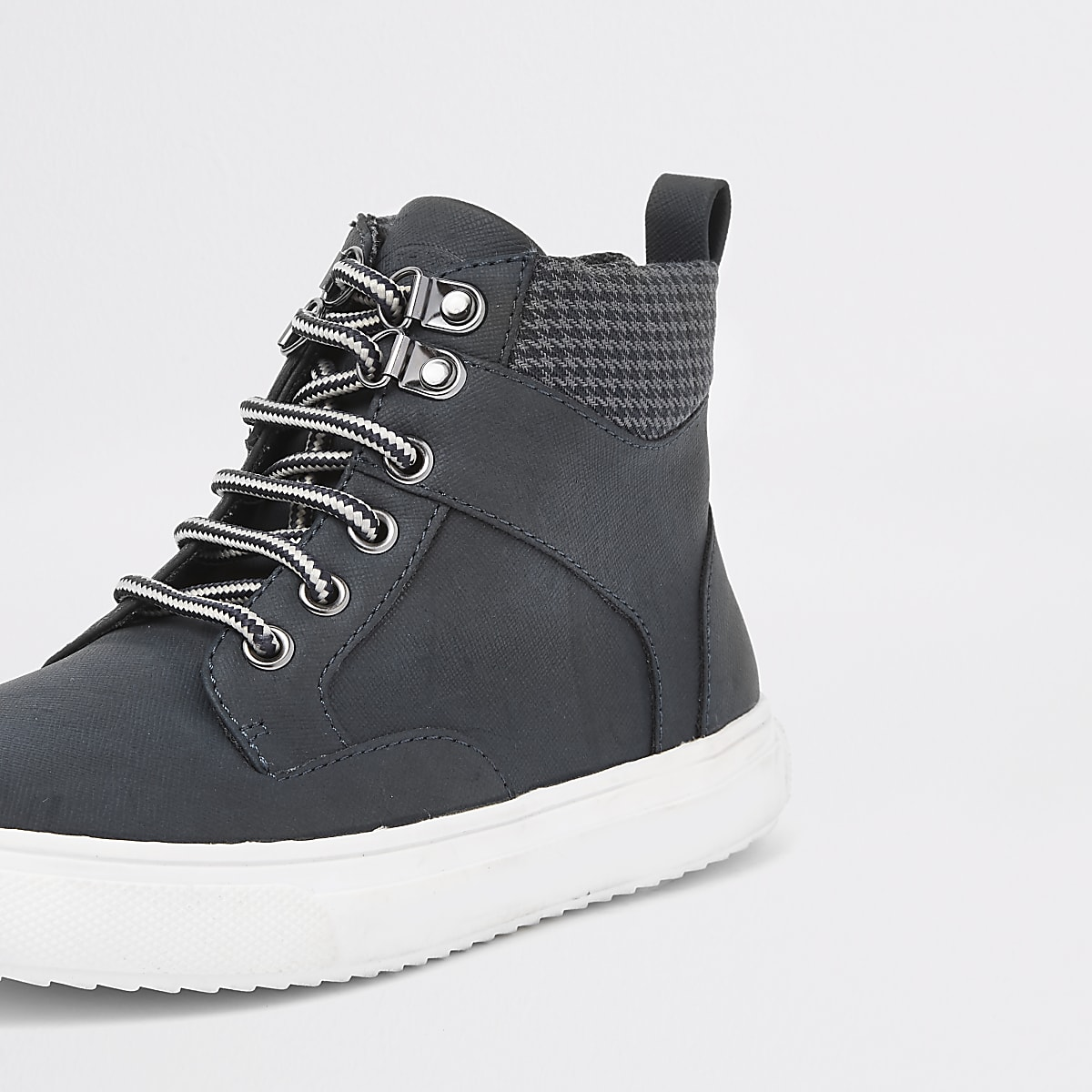 ca486306b0b5 Boys navy lace-up ankle boots - Boots - Footwear - boys