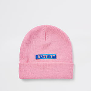 4eac71cf180 Be Inclusive pink  Identity  beanie hat