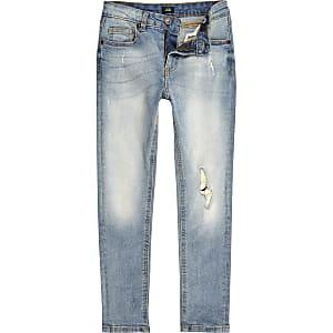 Sid – Jean skinny bleu clair déchiré pour garçon