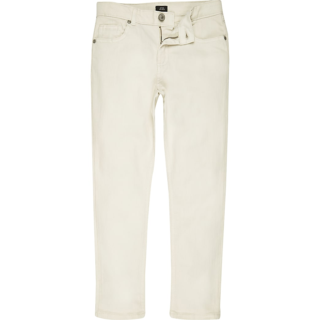 Boys white Dylan slim fit skinny jeans