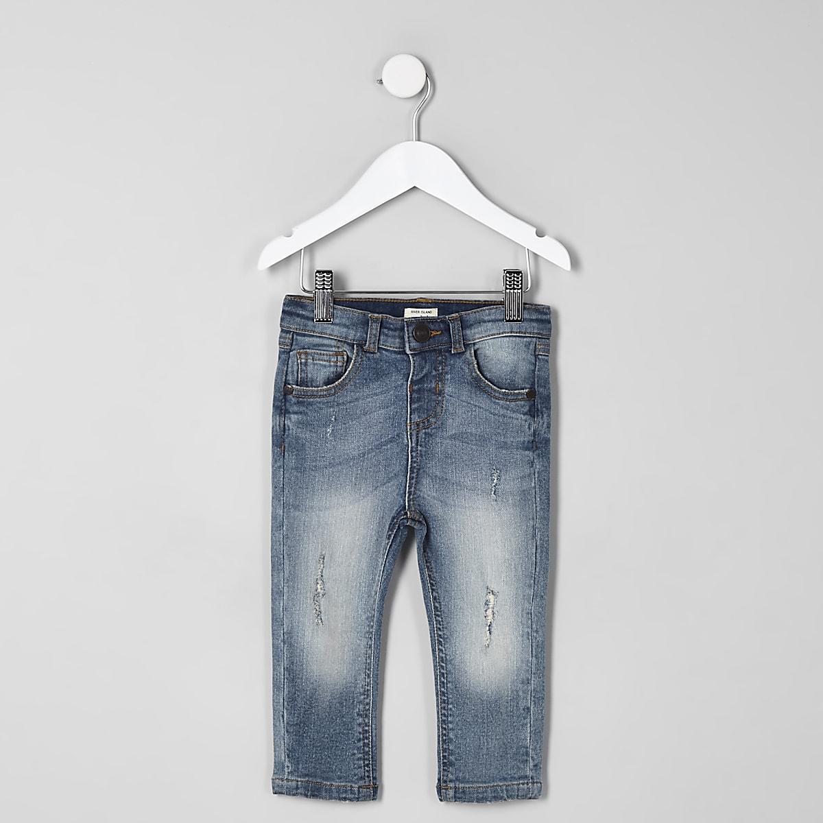 Mini boys light blue Sid distressed jeans