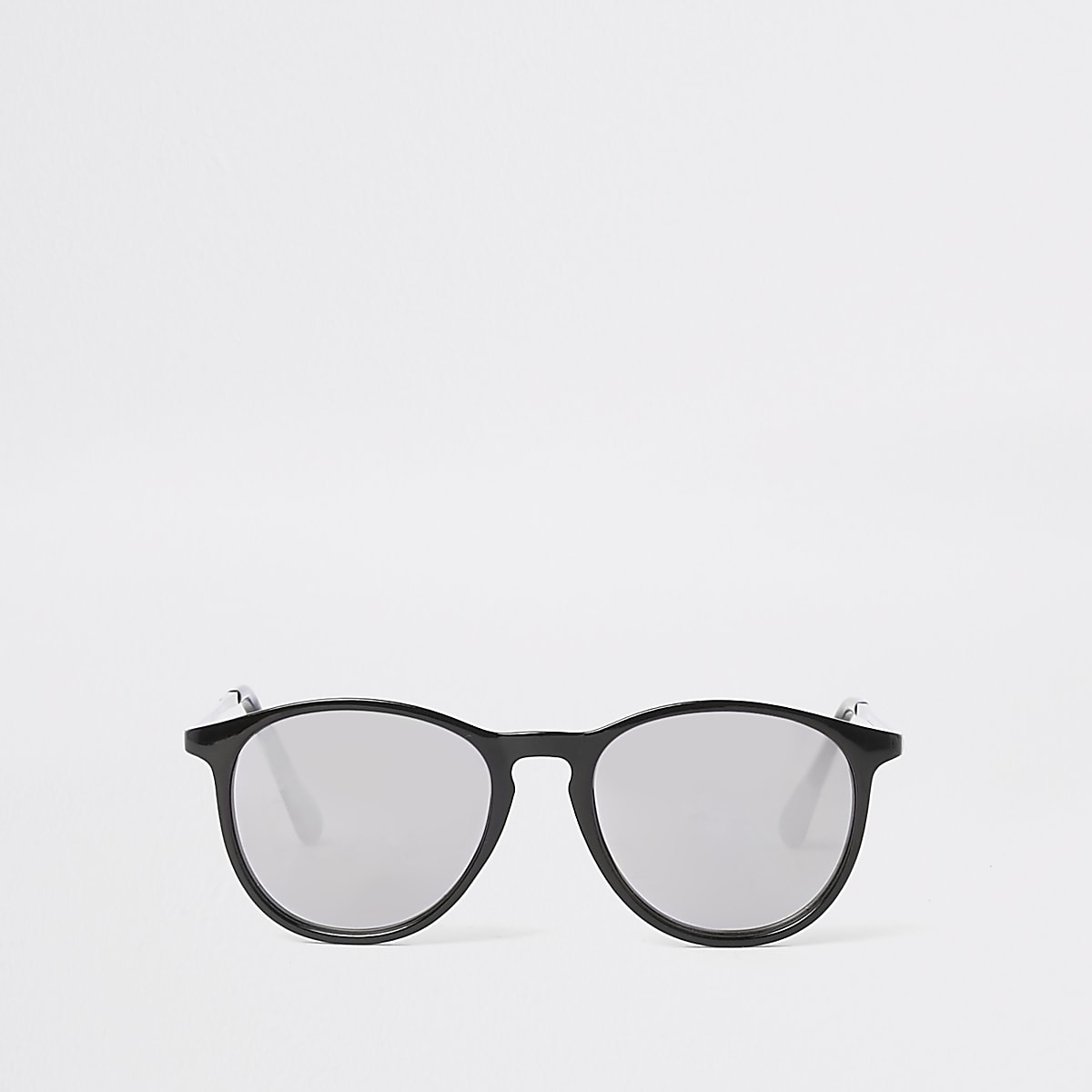 Boys black retro smoke lens retro sunglasses