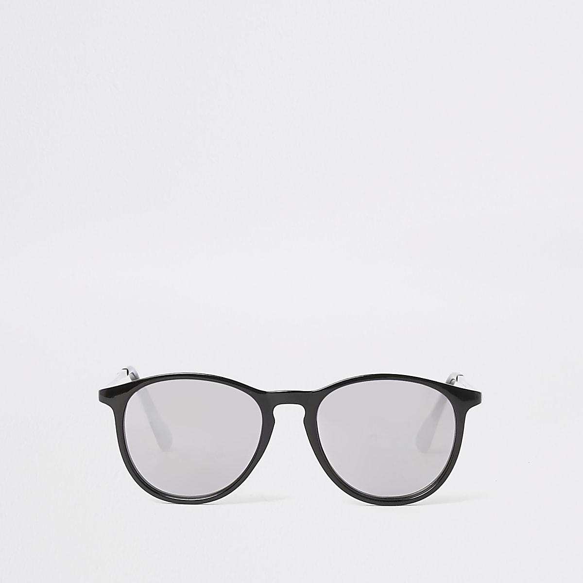 fbbbc2cff02f9e ... Zwarte retro zonnebril met getinte glazen voor jongens ...