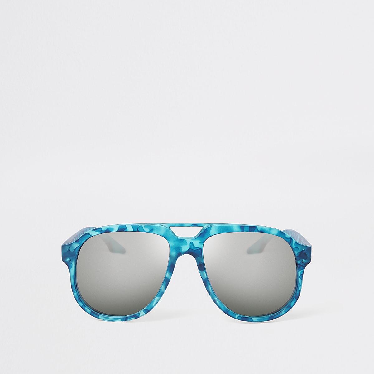 Boys blue camo sunglasses