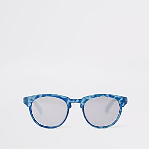 Mini boys blue flat top retro sunglasses