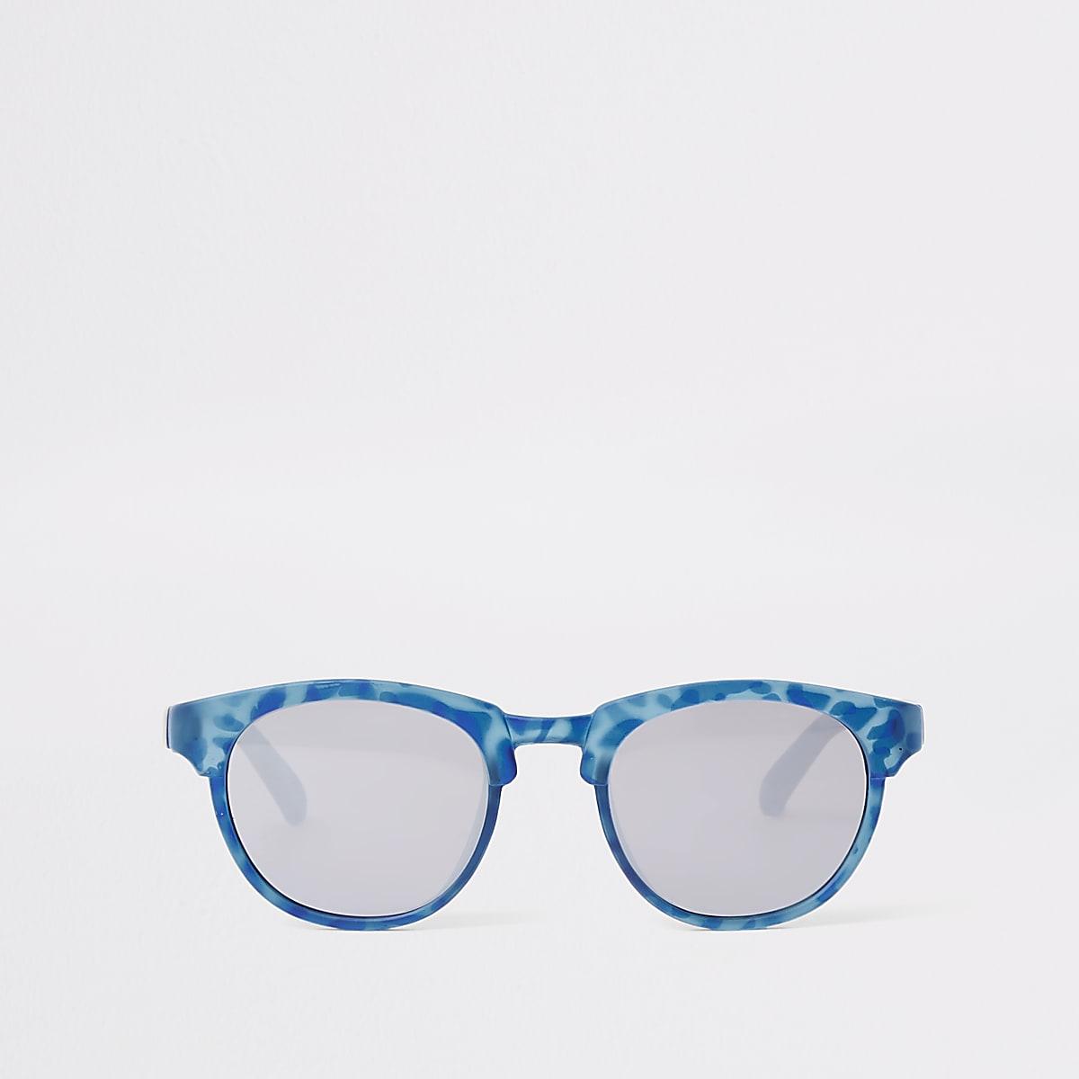 Mini boys blue flat top retro sunglasses