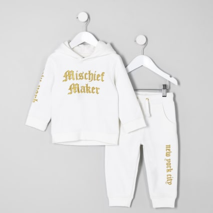 Mini boys 'mischief' hoodie outfit