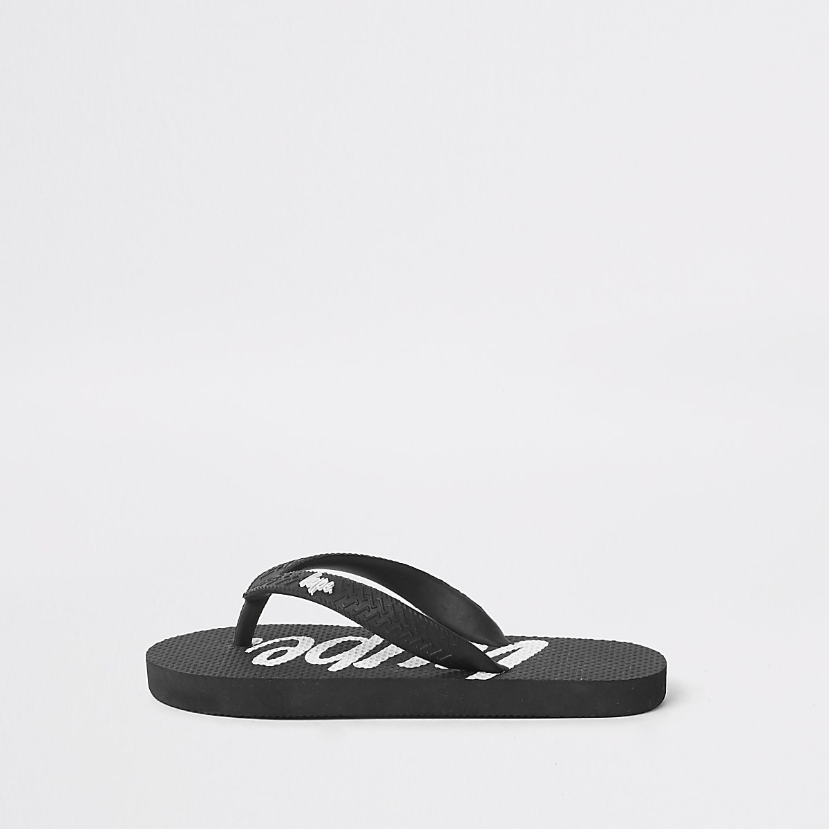 Kids Hype black flip flops