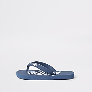 Kids Hype navy flip flops