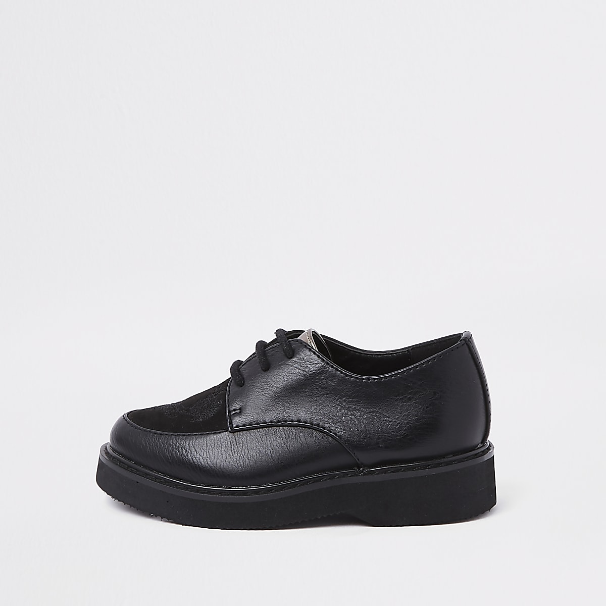 RI 30 mini boys black creeper shoes