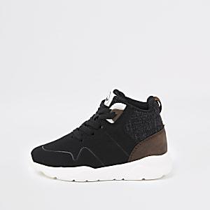 Schwarze High-Top-Sneaker