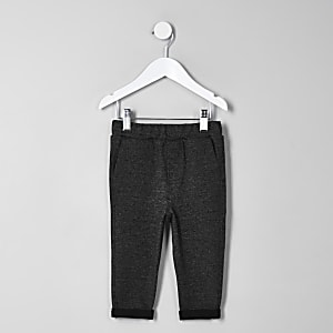 Mini boys grey marl pants