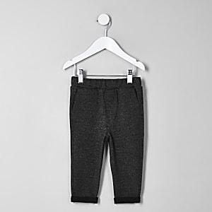 Mini - Grijs gemêleerde broek voor jongens