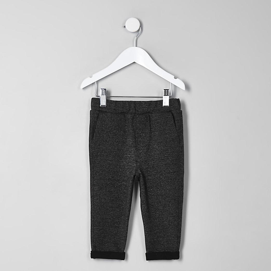 Mini boys grey marl trousers