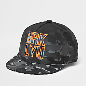 Mini boys grey camo cap