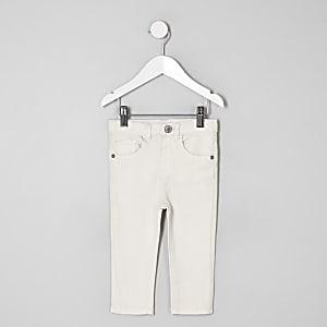 Mini - Sid - Ecru skinny jeans voor jongens