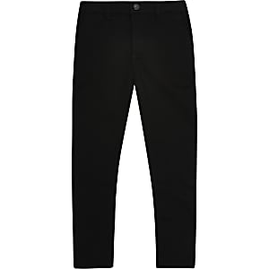 Boys black stretch skinny pants
