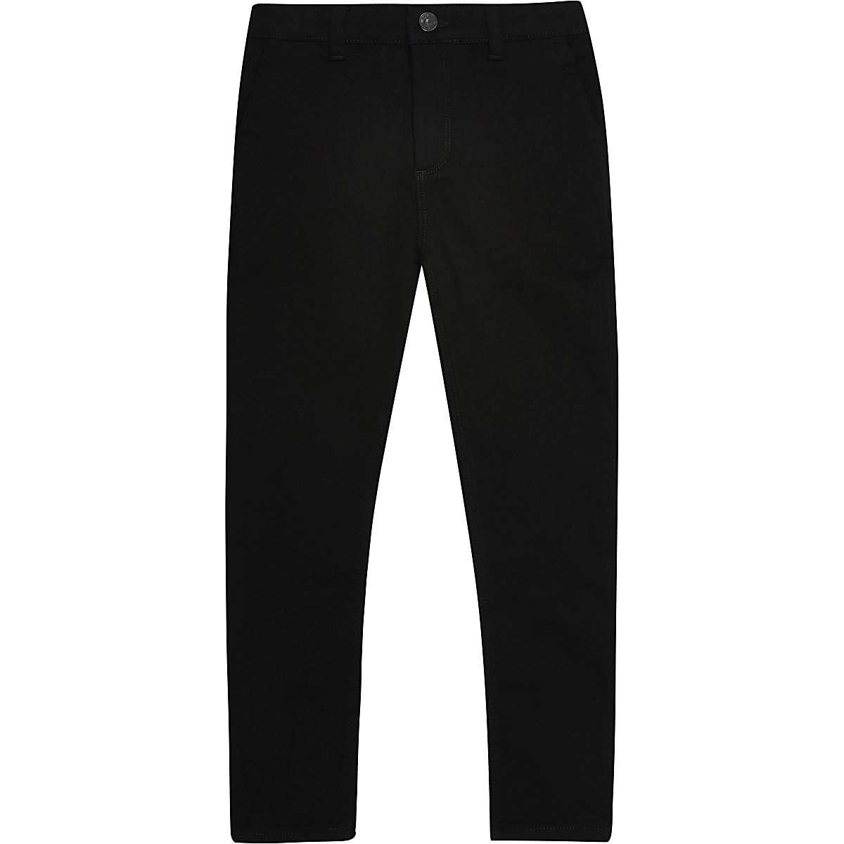 Boys black stretch skinny trousers
