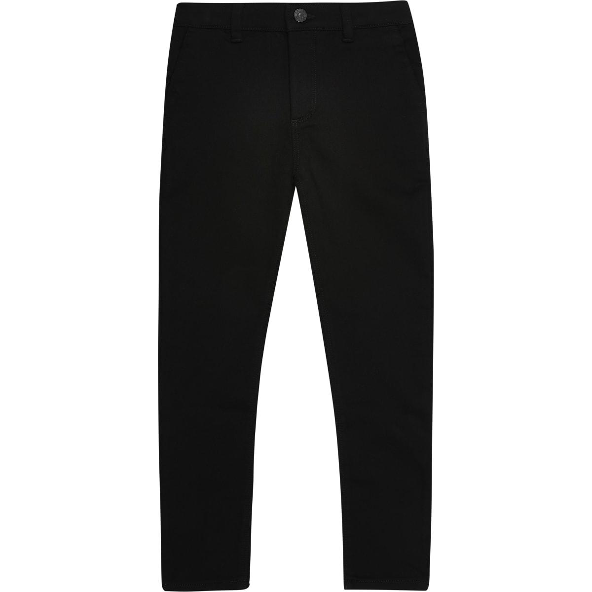 Zwarte skinny stretchbroek voor jongens