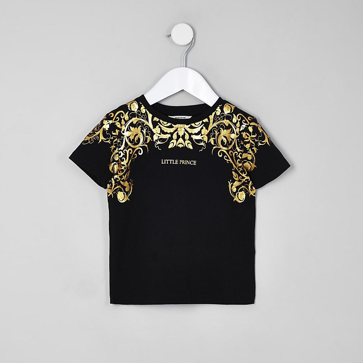 Mini boys 'exclusive' foil print T-shirt
