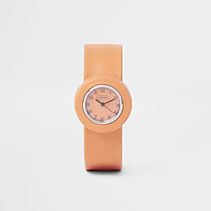 Armbanduhr in Orange