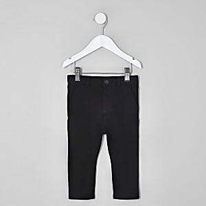 Mini boys black stretch skinny pants