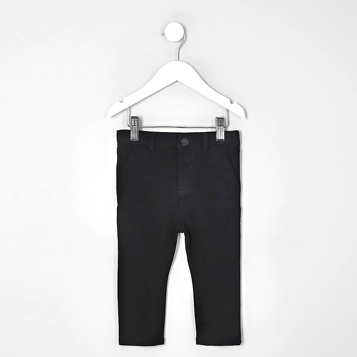 Mini boys black stretch skinny pants