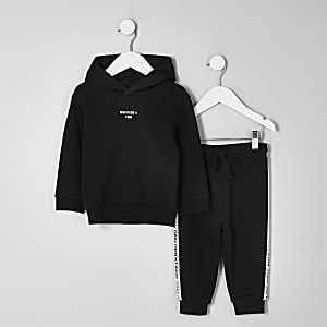 Mini boys black 'Mini dude' hoodie outfit