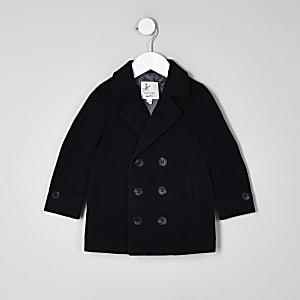 Mini boys navy wool coat