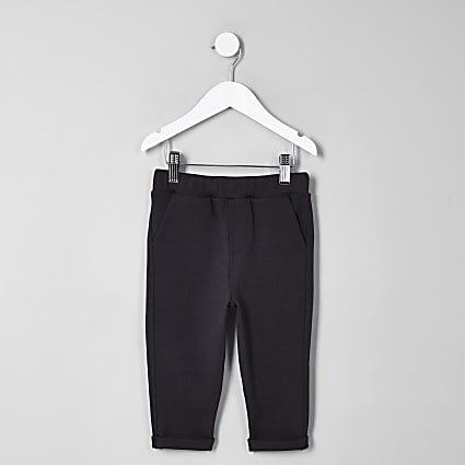 Mini boys navy marl joggers