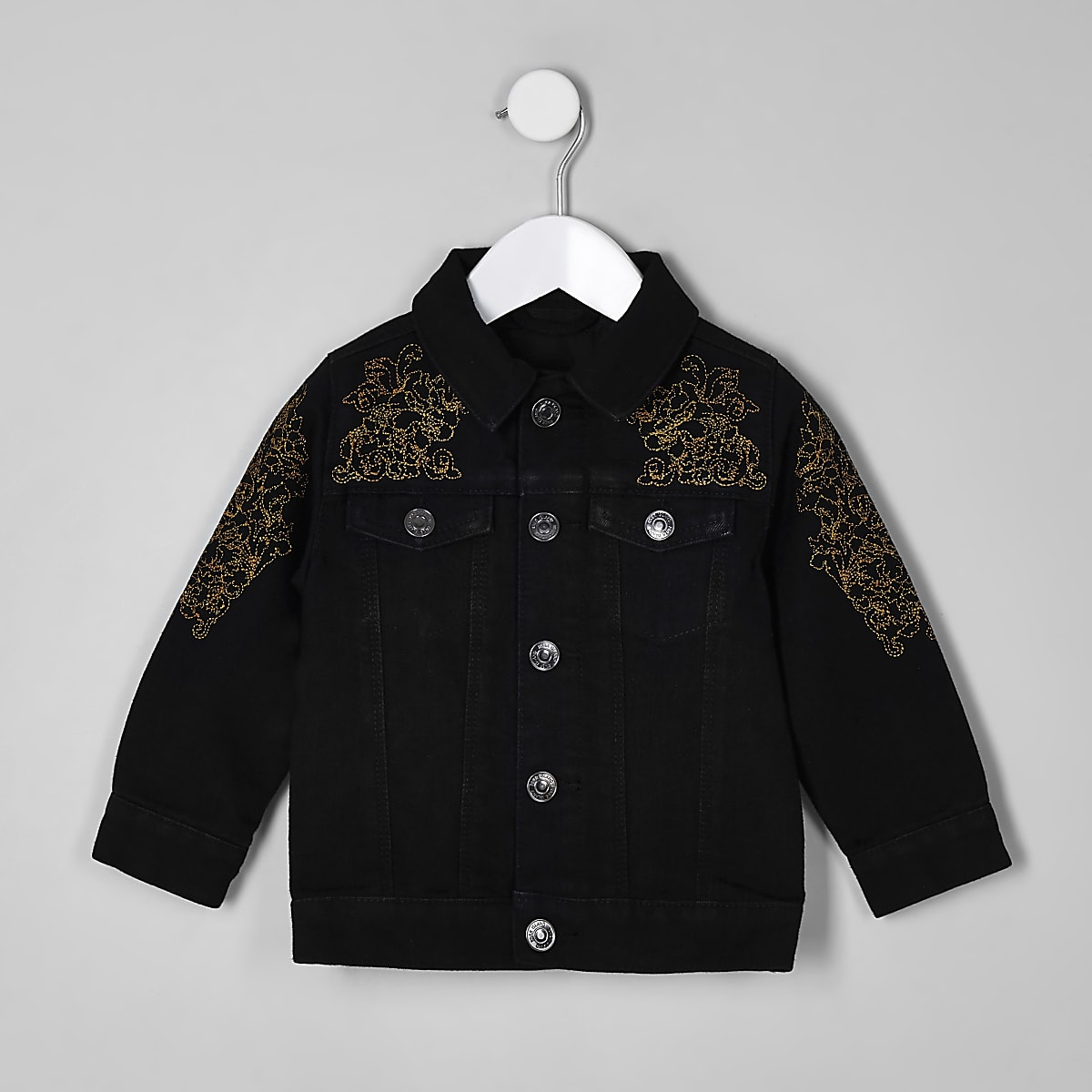 RI 30 mini boys black denim jacket