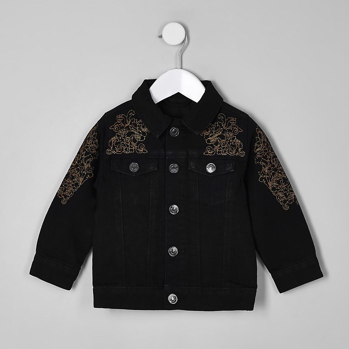 RI 30 mini boys black denim jacket