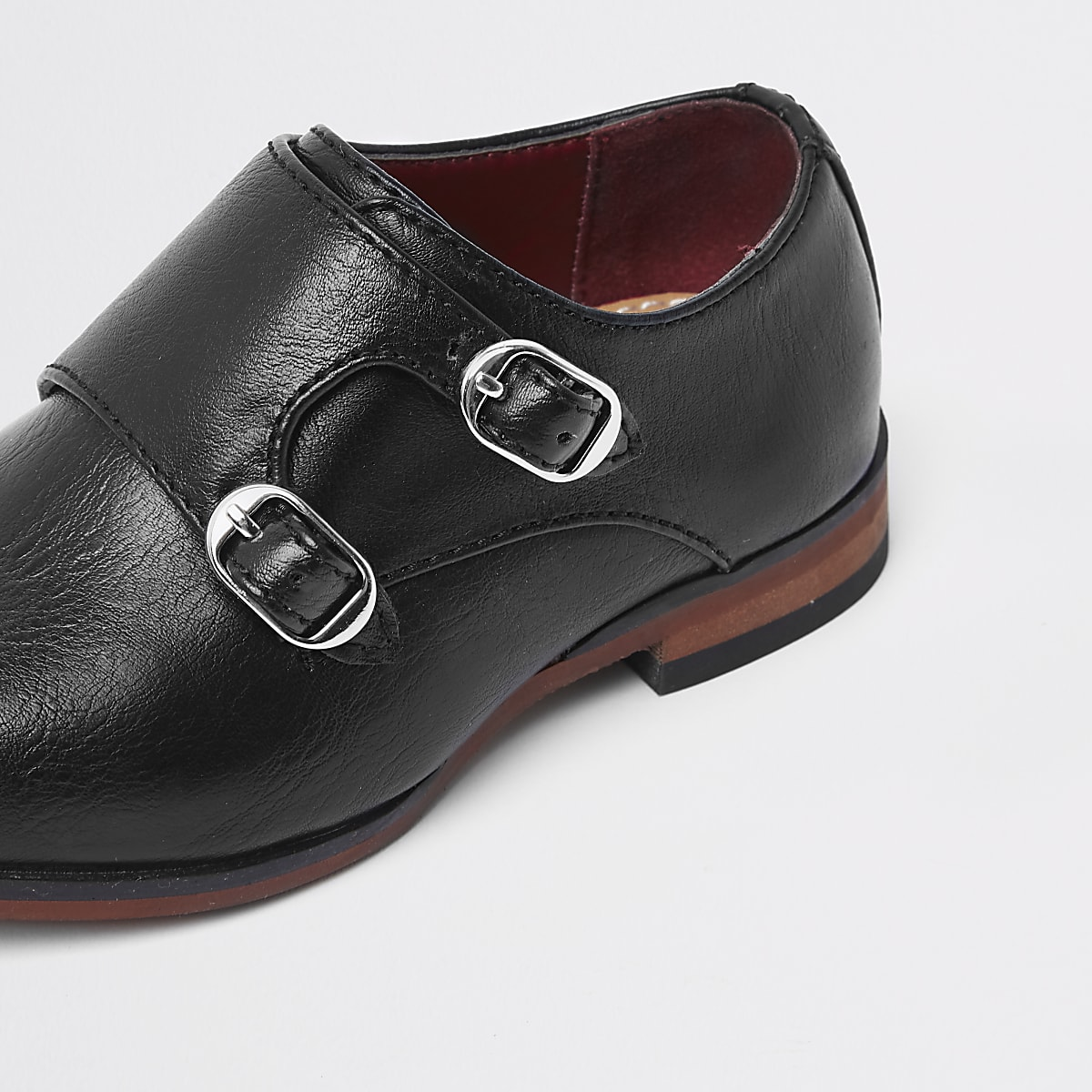 95f91e04b53f1 Mini boys black monk strap pointed shoes