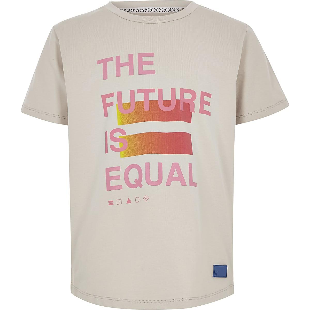 Be Inclusive stone print T-shirt