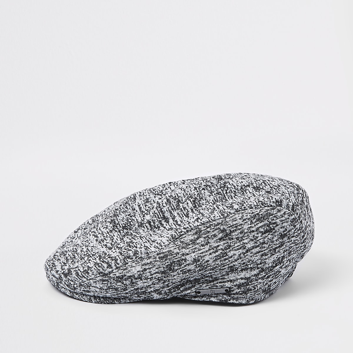 Boys grey jersey flat cap