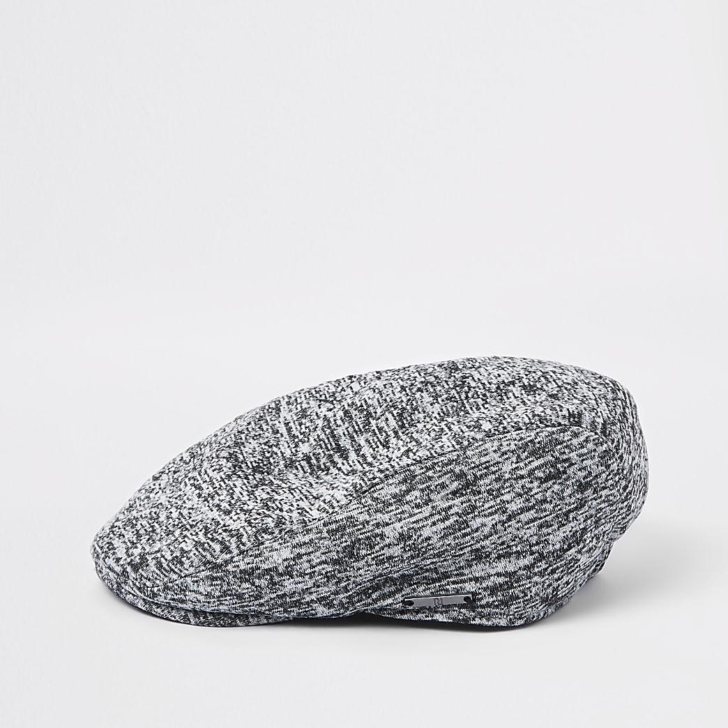 Boys grey jersey flat cap