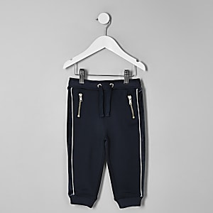 RI 30 – Pantalon de jogging à empiècement bleu marine mini garçon
