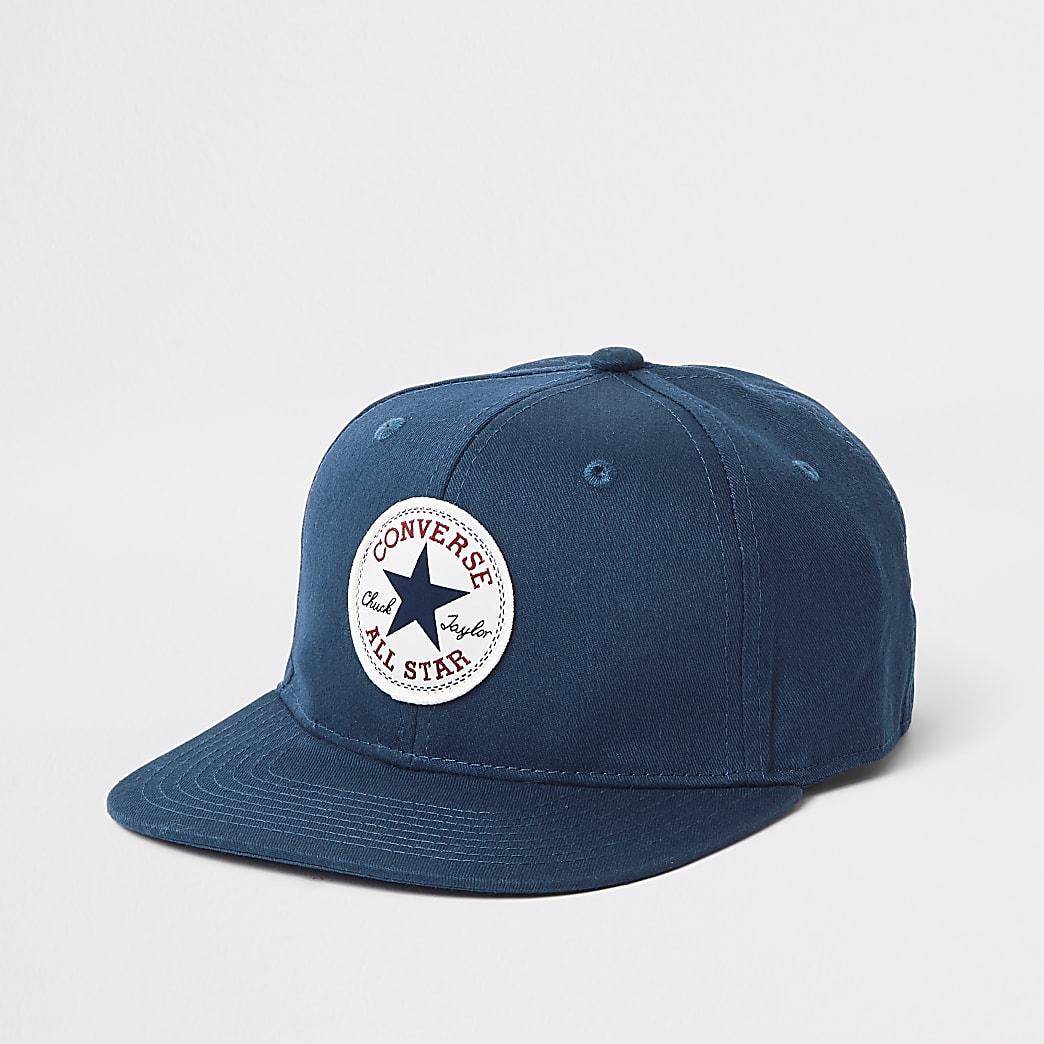 Boys Converse navy flat peak cap
