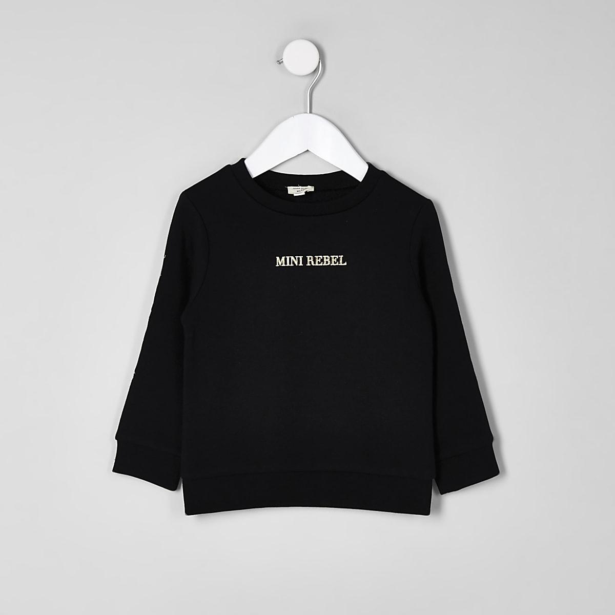 Mini boys black 'rebel' sweatshirt