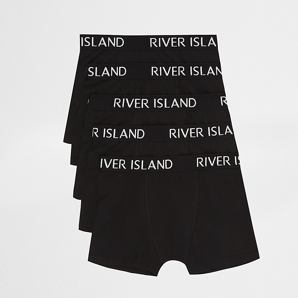 Boys black RI boxers multipack