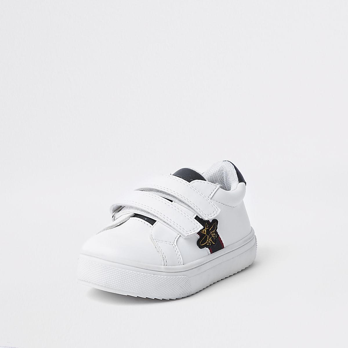 8278a126ba065 Tennis blanches avec motif abeille pour mini garçon - Baskets pour ...