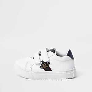 Baskets blanches avec motif abeille Mini garçon