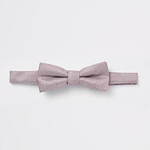 Roze jacquard vlinderdas voor jongens